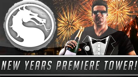 mortal kombat x happy new year tower with johnny cage