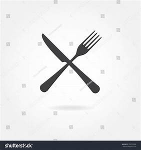 Fork Knife Crossed Icon Vector Illustration Stock Vector ...