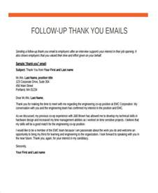 Follow Up Resume Email Exle by Thank You Email Best Thank You Letter Format Best Thank You Letter Format For
