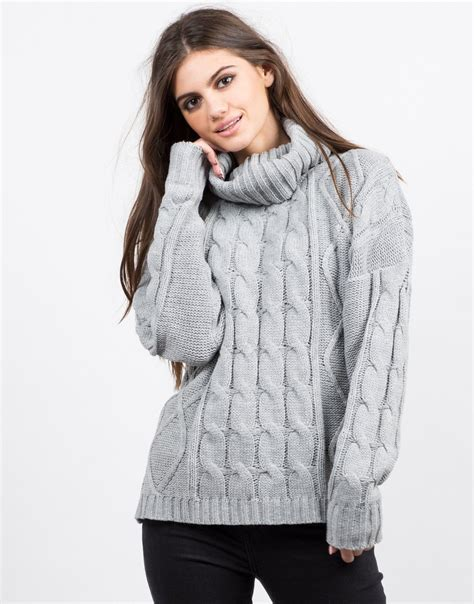 turtleneck knit sweater turtleneck chunky knit sweater cowl neck sweater