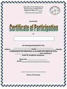 Certificate Of Participation Template Free Pink Certificate Of Participation Template Sample Blank Templates For Word Certificates In Free
