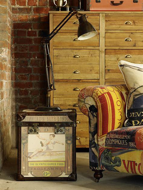 vintage olympic inspired living room furniture  barker