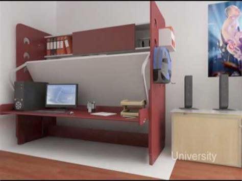 Space Saver Desk Bed by Hiddenbed Space Saving Bed Desk System