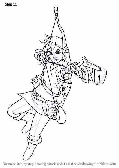Zelda Breath Wild Legend Link Draw Coloring