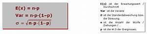 Stochastik Wahrscheinlichkeit Berechnen : binomialverteilung binomial verteilung diskrete wahrscheinlichkeit mathe ~ Themetempest.com Abrechnung