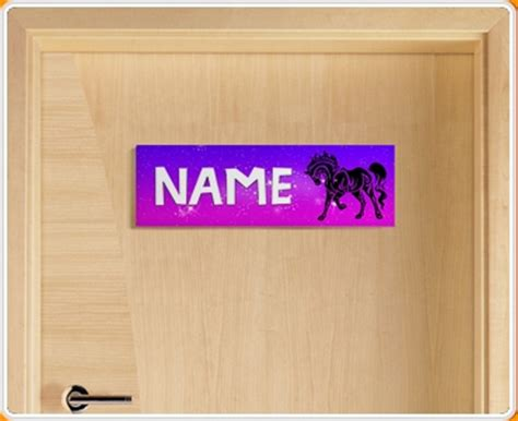 tribal horse personalised  childrens bedroom door sign