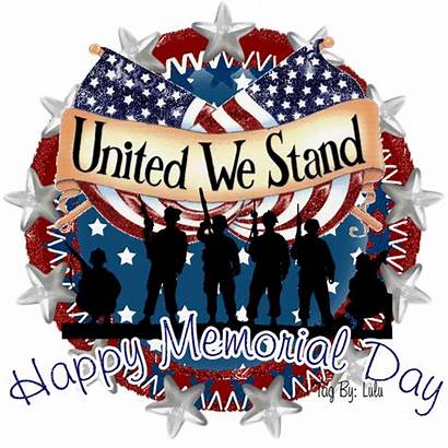 Memorial Happy Stand United Glitter Quotes Animated