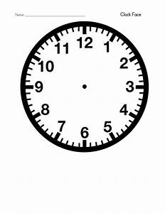 blank clock template printable activity shelter kids With clock face templates for printing