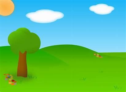 Landscape Cartoon Clip Vector Svg
