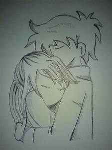 Boy Hugging Girl From Behind Cute Sketches - Drawing Of Sketch