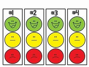 Individual smiley face behavior clip chart with editable for Smiley face behavior chart template