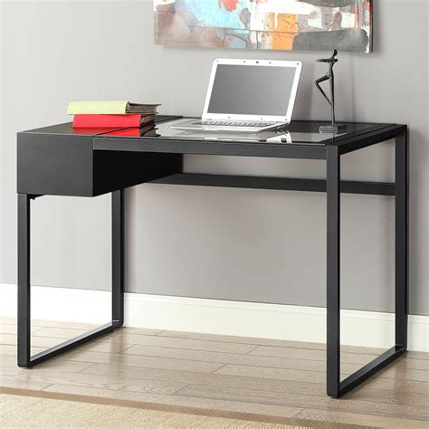 Thin Computer Desk by Furniture Cool Whalen Desk With A Simple Profile And
