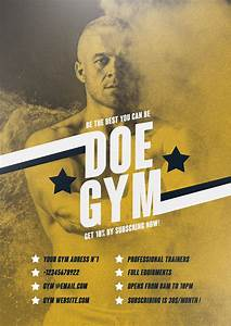 free cover page templates vintage gym poster design template flyer templates