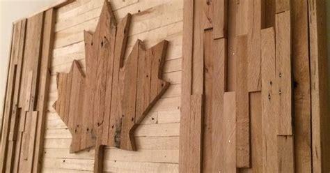 canadian flag pallet wood build ideas pinterest