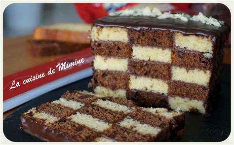recette de cuisine simple et facile ma participation au concours ker cadélac gâteau damier