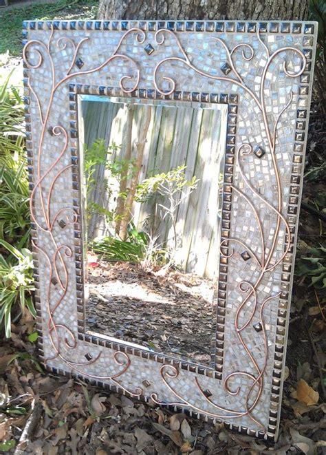 Mosaic Rectangular Bathroom Mirror by Large Mosaic Mirror Lovely Copper White And Bronze