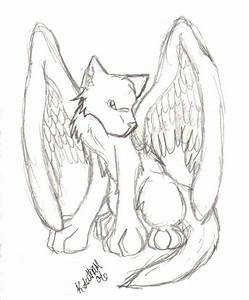 winged wolf by lunarhowl on DeviantArt