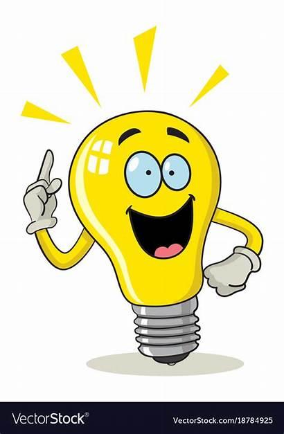 Bulb Cartoon Clipart Bulbs Clip Vectorstock Smart