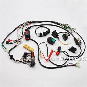 Full Electrics Cdi Coil Switch Assembly Wire Harness 50cc