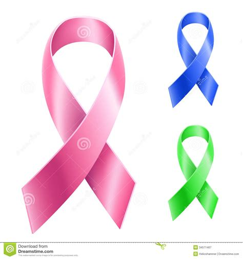 cancer ribbon different nastro insieme cancro