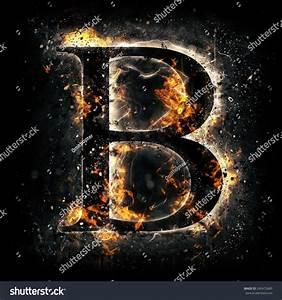 Fire Alphabet Letter B Stock Illustration 245472685 ...