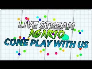 Agario live stream/Join NOW/Let's play with my new skins ...