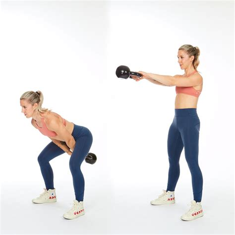 kettlebell workout muscle shape build swings