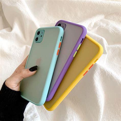 mint hybrid simple matte bumper phone case  iphone  case pro max xr xs