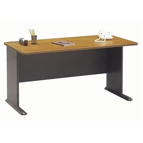bush series a desk bush bbf series a 60w desk in natural cherry wc57460
