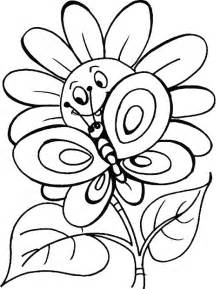 Butterfly and Flower Coloring Pages