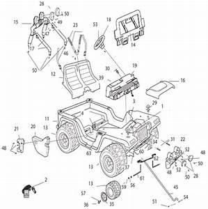 Power Wheels Tough Talking Jeep Parts
