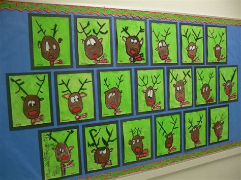 christmas art projects for middle schoolers artventurous reindeer portraits