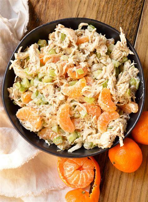 5 Ingredient Mandarin Orange Chicken Salad Recipe ...