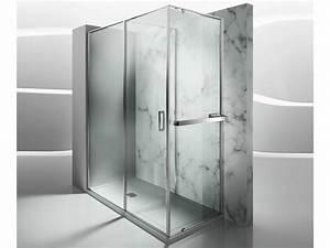 Cabine De Douche En Verre : paroi de douche chauffante sur mesure en verre tremp ~ Zukunftsfamilie.com Idées de Décoration