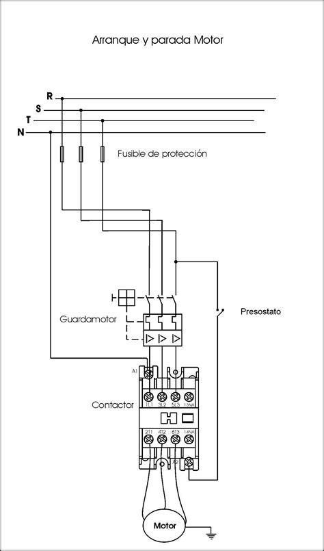 como conectar un compresor trifasico con su presostato