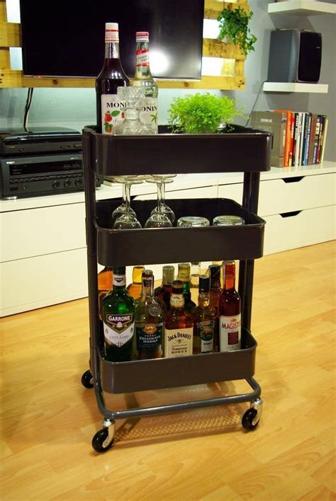 smart ways   ikea raskog cart  home storage