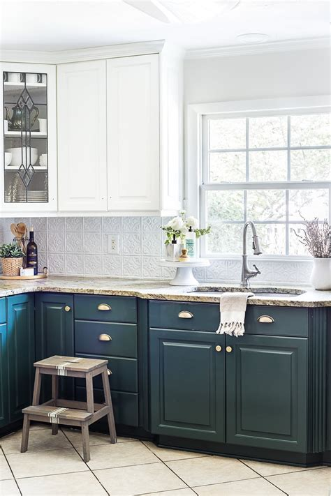 white kitchen cabinets with lower cabinets green kitchen cabinet update bless er house