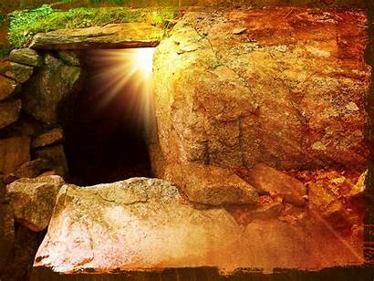 Jesus Easter Tomb He Background Sunday Why