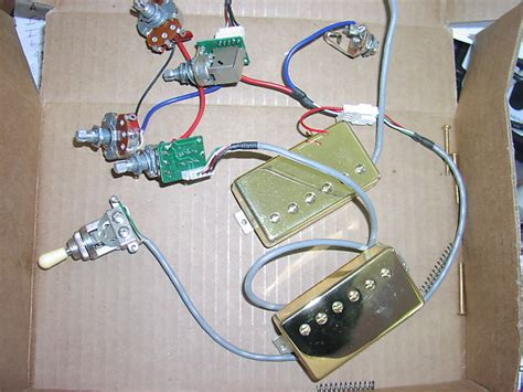 epiphone les paul pro wiring harness with probucker reverb