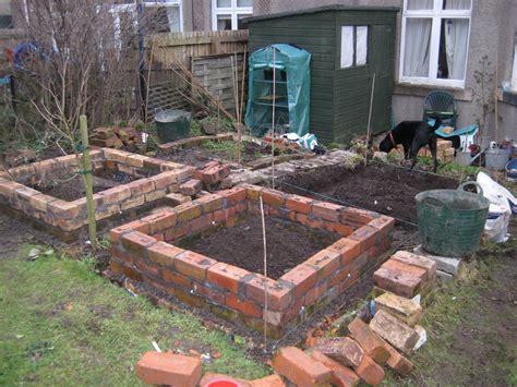 Brick Raised Beds Update