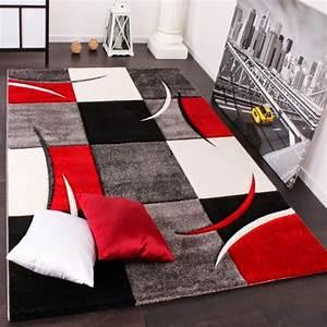 Tapis Geometrique Noir Et Blanc : tapis noir blanc gris id es de d coration int rieure ~ Dailycaller-alerts.com Idées de Décoration