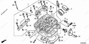 Honda Motorcycle 2016 Oem Parts Diagram For Cylinder Head