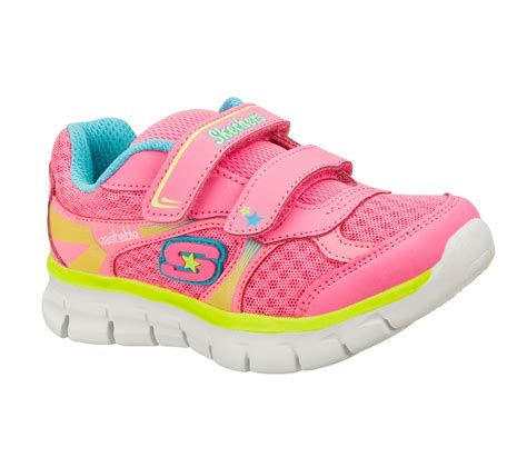 Skechers Girls Synergy Lil Softy Pink Machine Washable