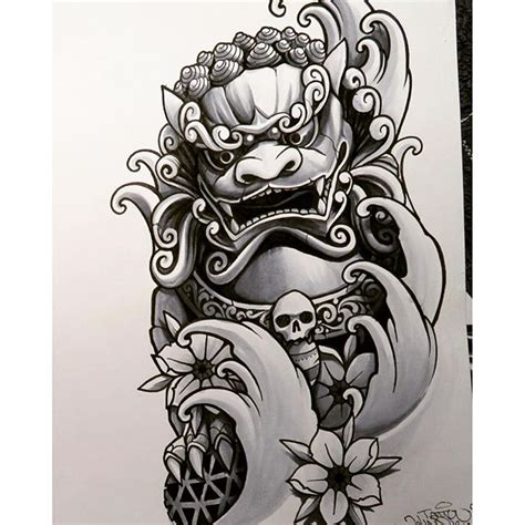 johnqtattooinstagram en  foodog jq johnq foodog skin art foo dog