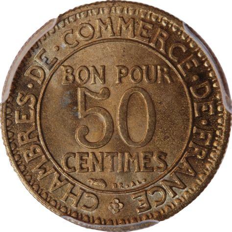 chambre de commerce chambre de commerce 50 centimes 1923 pcgs ms66