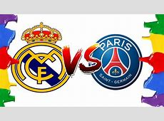 How to Draw and Color Real Madrid Vs PSG Champions