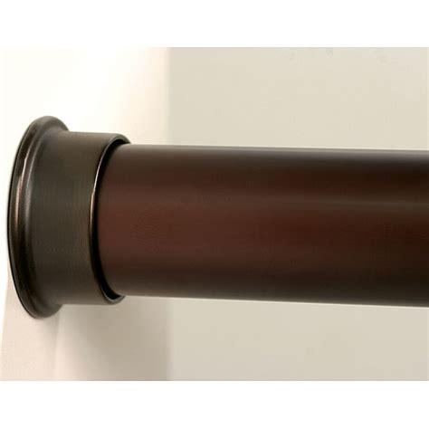custom size closet rod rubbed bronze in closet rods