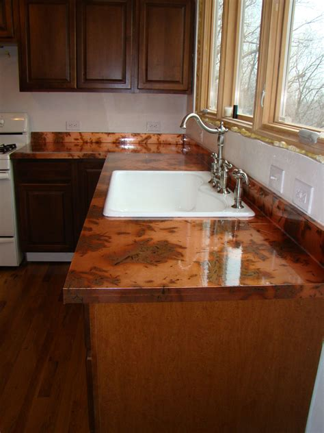 kitchen  diy copper countertops