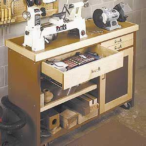mini lathe stand woodworking project plan shop storage