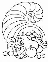 Thanksgiving Coloring Pages Cornucopia Turkey Kiboomu Songs sketch template